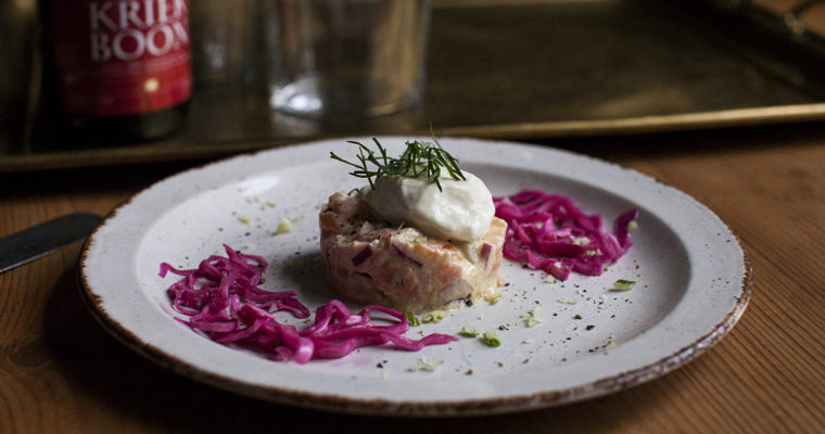 Smoked Salmon Tartare with Fennel Ice Cream