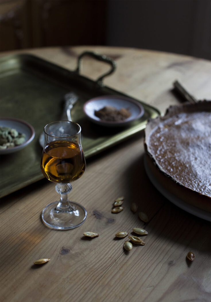 pumpkin pie with whisky