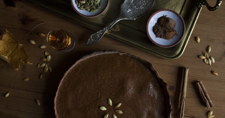 Spiced Whisky Pumpkin Pie