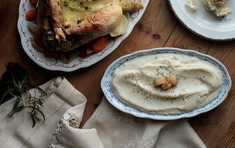 Creamy Garlic Cauliflower Purée Recipe