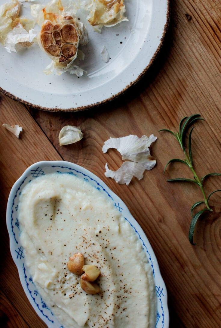 garlic cauliflower puree